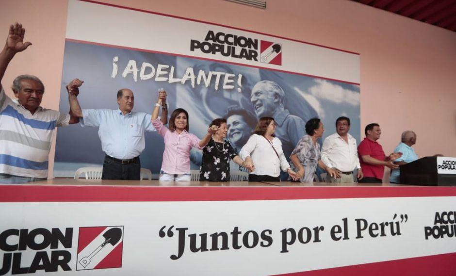 Acción Popular se consolidó en cuatro regiones del país, donde se llevó la victoria, según el conteo de actas procesadas de la ONPE. (Foto: GEC)