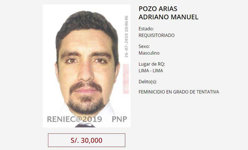 Tras la lectura de sentencia el 8 de julio se emitió una alerta nacional en todos los puestos de control fronterizo a fin de evitar que Adriano Pozo no fugue del país. (Foto: Mininter)