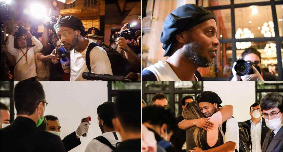 Ronaldinho ingresó a hotel paraguayo para cumplir con prisión domiciliaria. (Fotos: AFP / EFE)