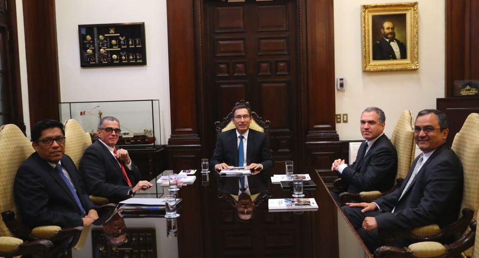 El jefe del Gabinete, Salvador del Solar, participó en la reunión entre Martín Vizcarra y Pedro Olaechea. (Foto: PCM)