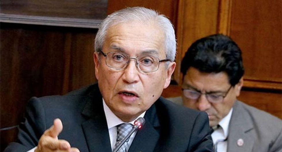 """Pedro Chávarry descartó tener """"algún temor"""" ante lo que el Parlamento decida porque ha actuado conforme a ley. (Foto: Agencia Andina)"""