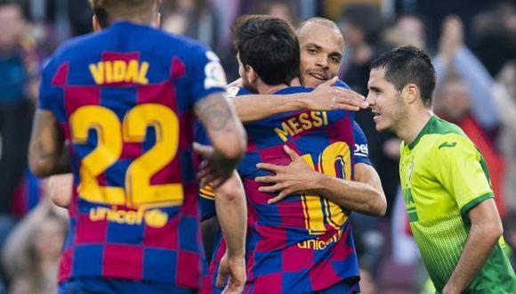 Barcelona visitará este martes a Napoli, por la ida de octavos de final de la Champions League. (Foto: AFP)