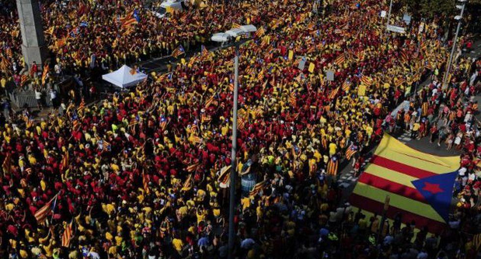 La manifestación de hoy. (Foto: AFP)