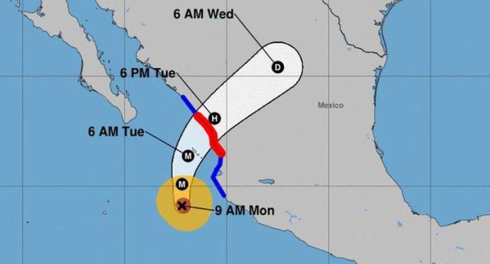 El huracán Willa desarrolla vientos sostenidos de 260 kilómetros por hora y rachas de hasta 315 kilómetros por hora.