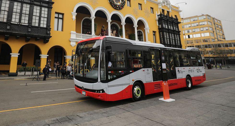 El bus eléctrico puede recorrer hasta 300 kilómetros con la batería cargada al 100%. (Municipalidad de Lima)