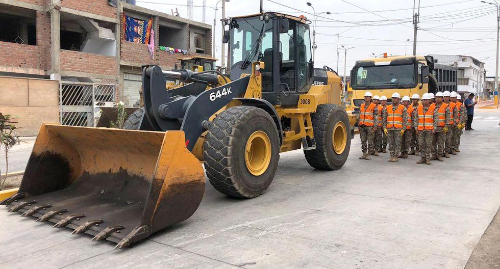 Los trabajos de demolición se vienen realizando desde el sábado 15 de febrero. (Foto: Ejército del Perú)
