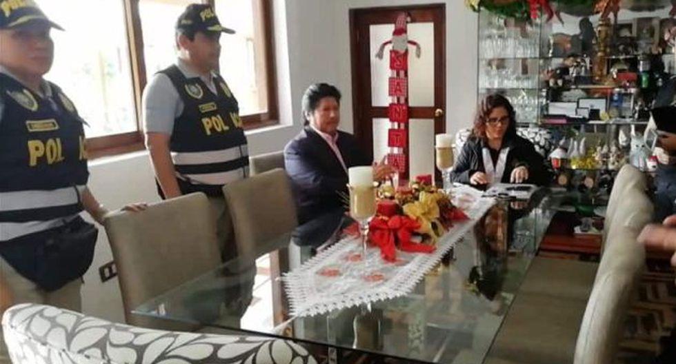 Edwin Oviedo fue detenido esta mañana en su vivienda en San Borja. (Foto: Difusión)