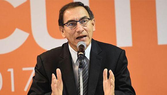Martín Vizcarra recordó que el electorado podrá decidir sobre cuatro reformas constitucionales. (Foto: Agencia Andina)