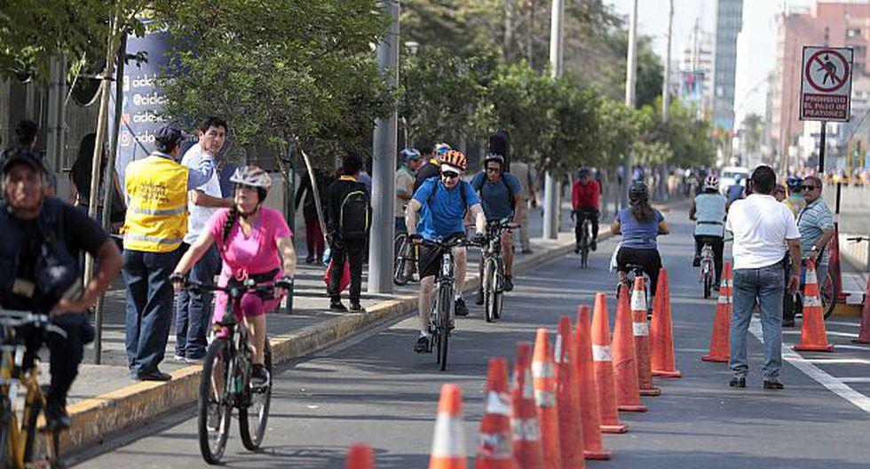 Durante el uso del carril estarán presentes los inspectores municipales de transportes para brindar seguridad de los usuarios. (Foto: GEC)