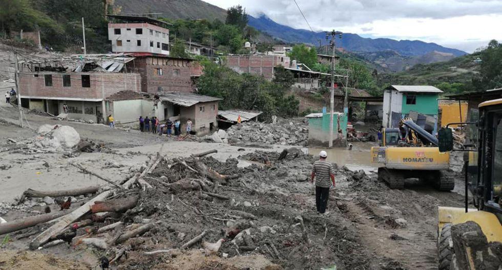 Varios distritos de Huamcabamba (Piura) han sido afectados por las lluvias intensas que se presentaron el fin de semana. (Foto: Andina)