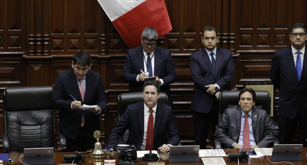 Salaverry y Segundo Tapia, integrantes de la Mesa Directiva. (Foto: Anthony Niño De Guzmán / GEC)