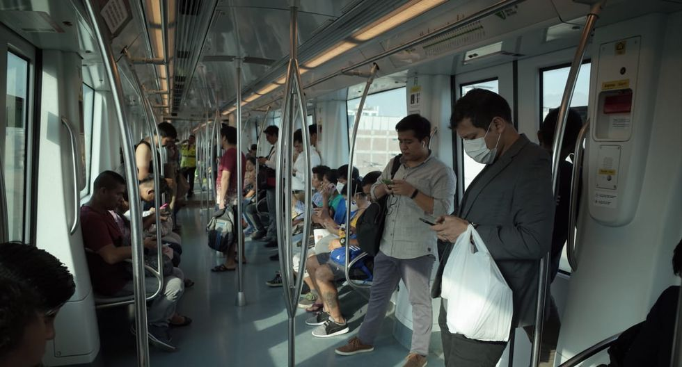El uso del Metro de Lima en tiempos del coronavirus. (Foto: Anthony Niño de Guzmán/ GEC)