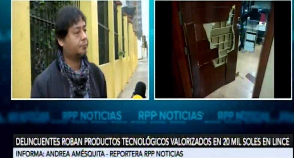 Empresario Jimmy Izquierdoprecisó que los productos robados tenían un costo de S/160 cada uno. (RPP)