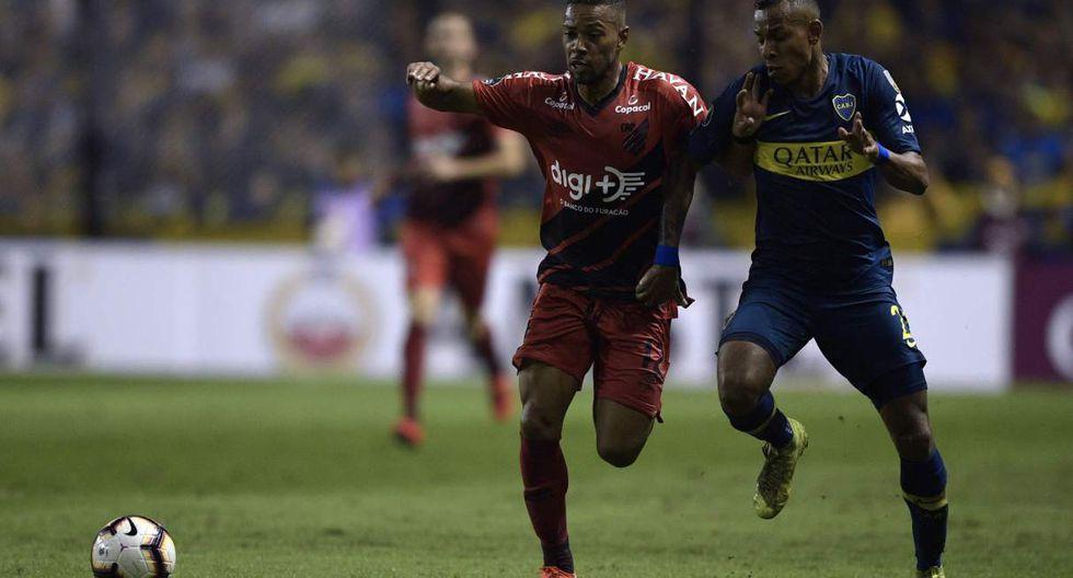 Boca Juniors vs. Atlético Paranaense se miden por la Copa Libertadores 2019. (Foto: AFP)