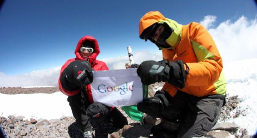 Los \'Googlers\' en el monte Everest (Foto: Google)