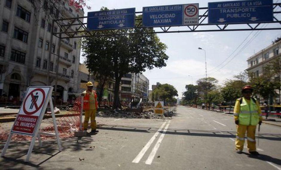 Los ciudadanos del Centro de Lima, donde se realizan los trabajos, no están tan de acuerdo con el proyecto. (Foto: Andina)