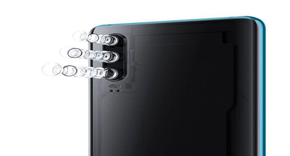 El Huawei P30 Pro está equipado con un nuevo sistema de cámara que incluye una cámara principal de 40MP una cámara ultra gran angular de 20MP, una cámara teleobjetivo de 8MP, y una cámara frontal de 32MP. (Foto: Difusión)