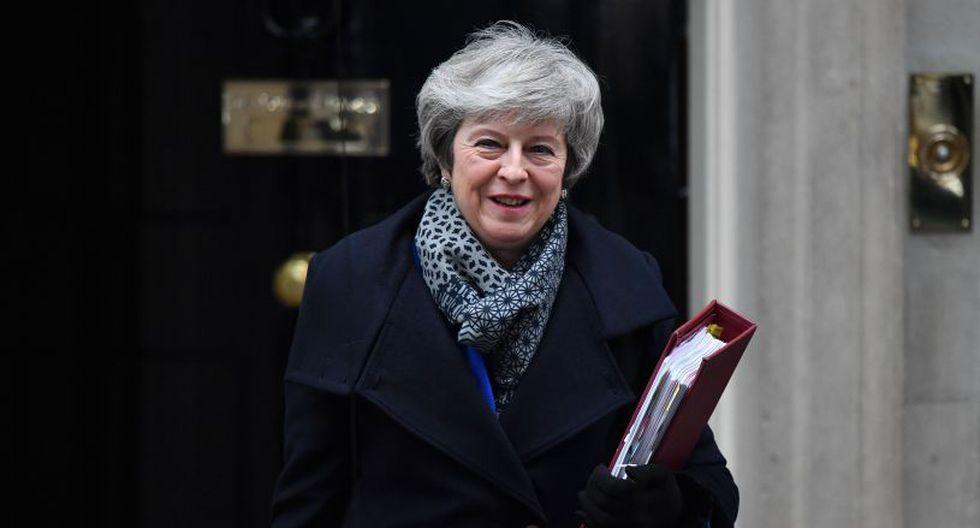 La nueva propuesta con la que la primera ministra volvió al parlamento es una versión del plan inicial que busca satisfacer a los tories rebeldes y al DUP. (Foto: AFP).