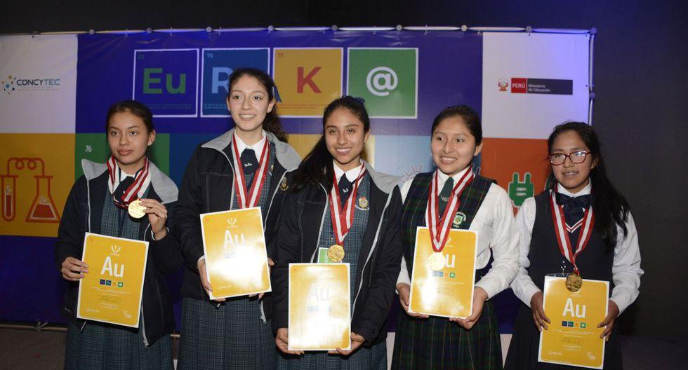 Las escolares representarán al Perú en eventos de tecnología.  (Concytec)