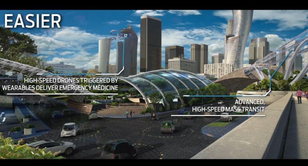 Los vehículos antes de ser 'voladores' estarán interconectados. (Foto: Ford)