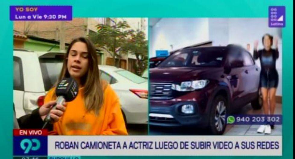 Francesca Zignago sufrió el robo de su vehículo esta mañana cuando regresaba a casa junto a su hermana. (Latina)