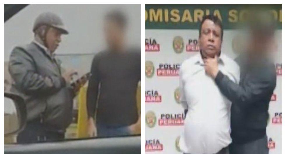 Luis Miguel Vílchez fue detenido luego de ser descubierto que era un falso policía. (Captura: América Noticias)