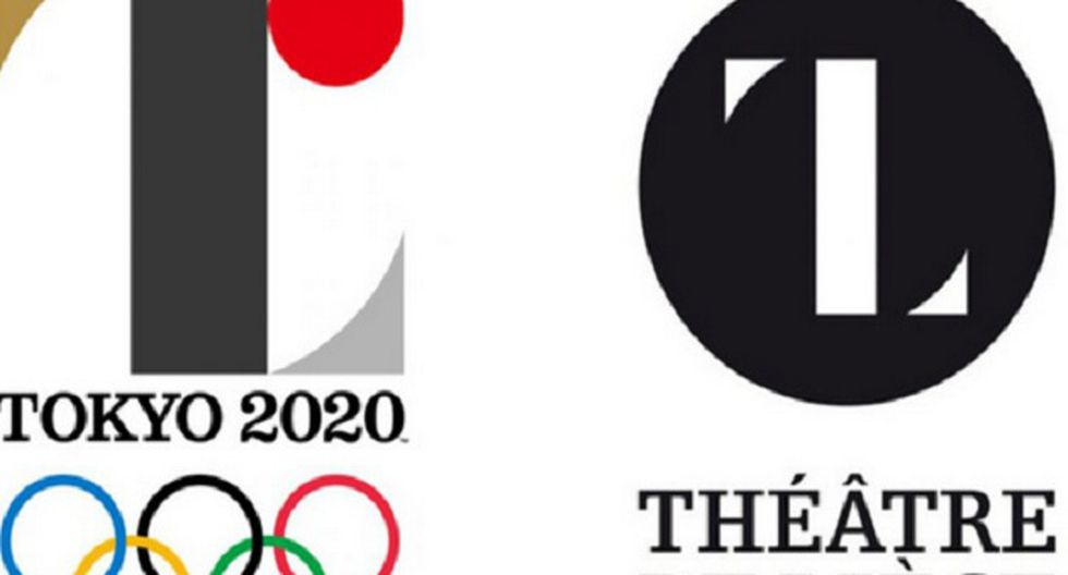 La estética de la letra 'T' del centro del logo japonés recuerda a la 'L' elegida para protagonizar el logo del teatro de Lieja (Foto: AFP/Teatro de Lieja)