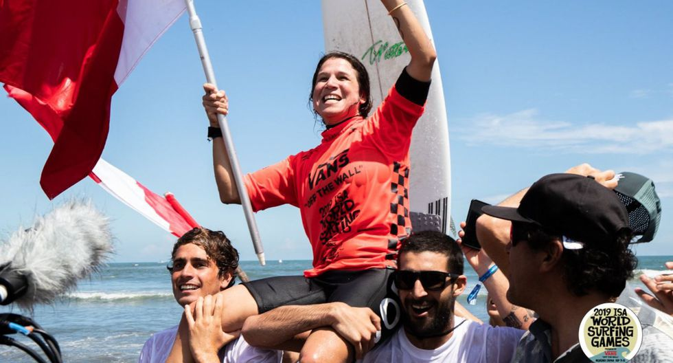 A los 36 años, Sofía Mulanovich repite su título como campeona mundial de surf. (Foto: ISA World Surfing Games 2019)