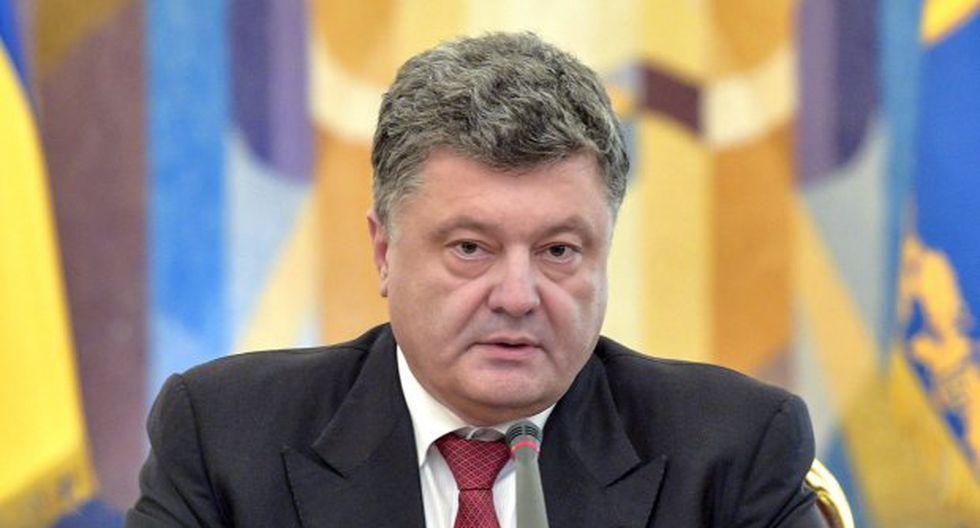 Petró Poroshenko también anunció que se presentará a la reelección en los comicios presidenciales del 31 de marzo. (Foto: EFE)