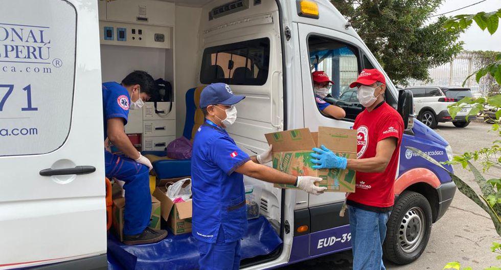Sociedad Nacional de Paramédicos del Perú invitó a la ciudadanía ser parte de esta gran campaña, indicando que la personas que deseen ayudar deberán preparar un plato de comida y colocarlo en un táper descartable. Luego, las ambulancias irán a recogerlo. (Foto Sociedad Nacional de Paramédicos del Perú)