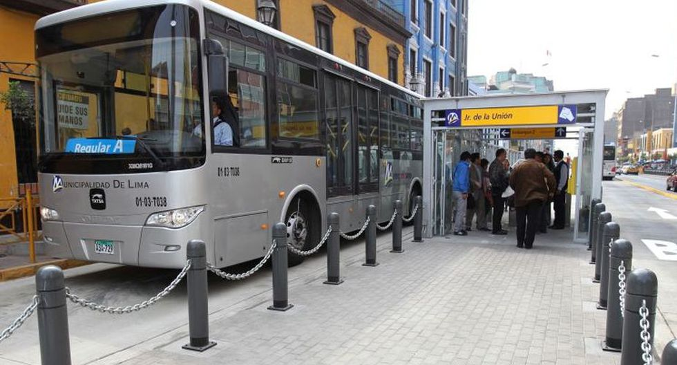 Metropolitano informó sobre los desvíos de los buses. (Foto: El Comercio)