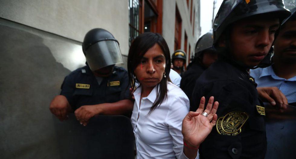 Giulliana Loza respondió al fiscal José Domingo Pérez, luego que este último pidiera que confirme la prisión preventiva contra Keiko Fujimori. (Foto: Piko Tamashiro/GEC)