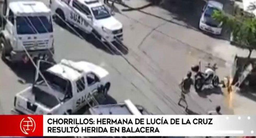 Julia de la Cruz Cuya, hermana de la cantante criolla Lucía de la Cruz, resultó herida durante balacera. (América Noticias)