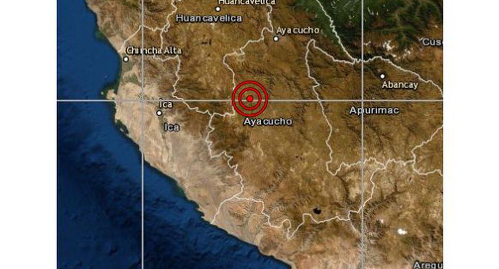 De acuerdo con el IGP, el epicentro de este movimiento telúrico se ubicó a 25 km al oeste del distrito de Huanca Sancos, en la provincia de Sancos, en la región de Ayacucho, y a 107 kilómetros de profundidad. (Foto: IGP)