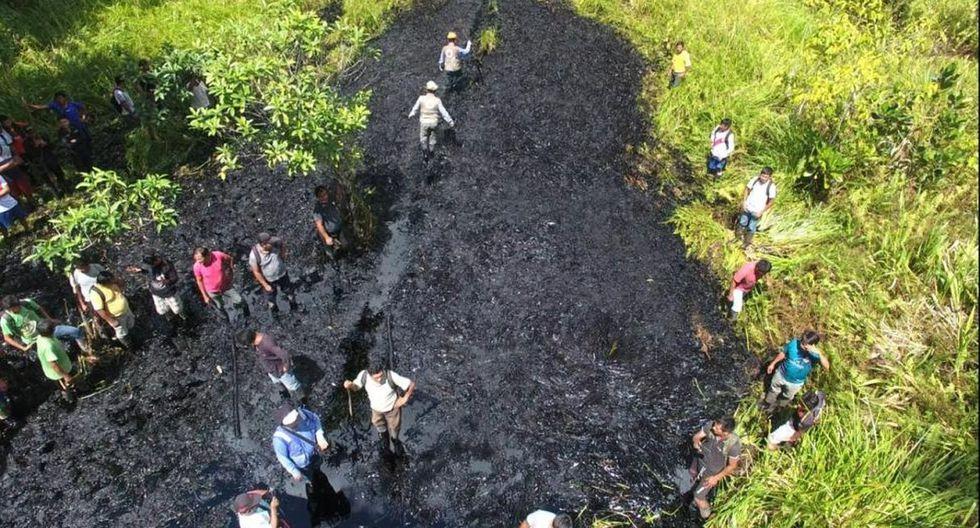 El Ministerio Público llegó a la zona afectada por el derrame de petróleo. (Foto: Ministerio Público)