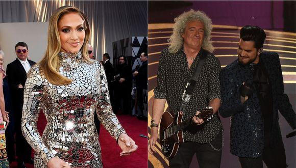 Jennifer Lopez tuvo una peculiar reacción ante la presentación de Queen en los Oscar 2019. (Foto: AFP)