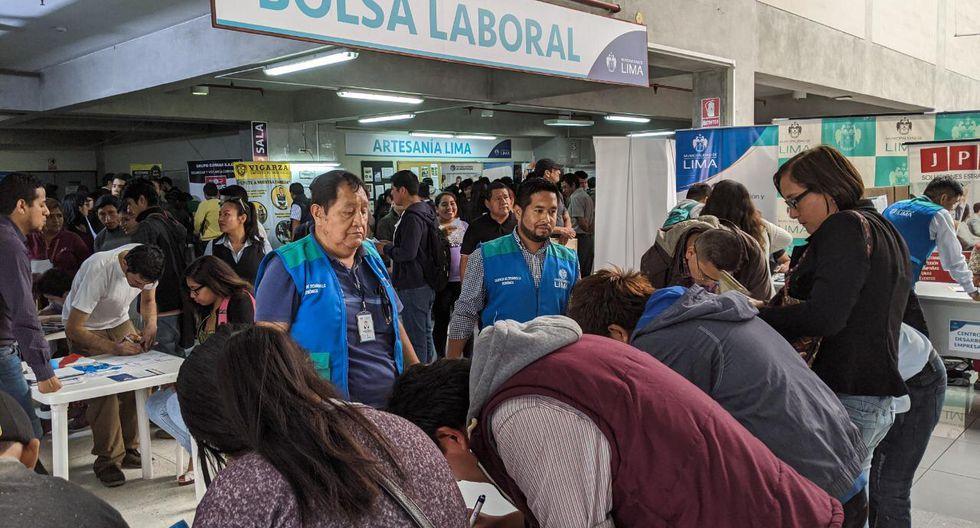 La feria laboral se llevará a cabo desde las 9:00 a.m. hasta a las  2:00 p.m.(Foto: Municipalidad de Lima)