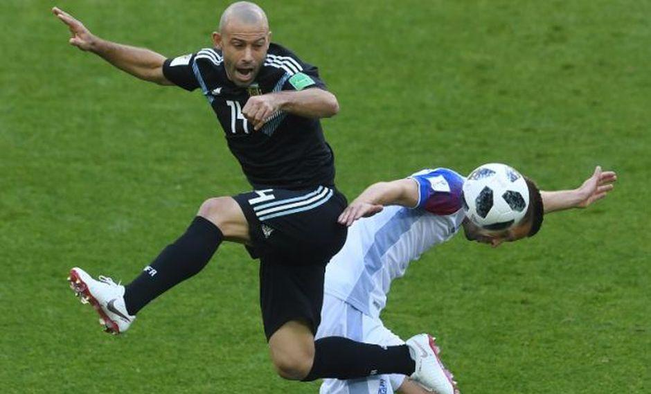 Argentina vs. Islandia por Rusia 2018. (AFP)