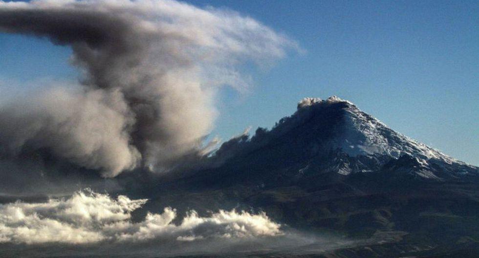 Alerta en Ecuador por emisión de cenizas del volcán Cotopaxi (Foto: AFP)