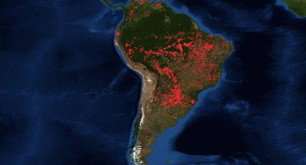 Amazonas en llamas: alerta medioambiental. (Nasa/FIRMS)