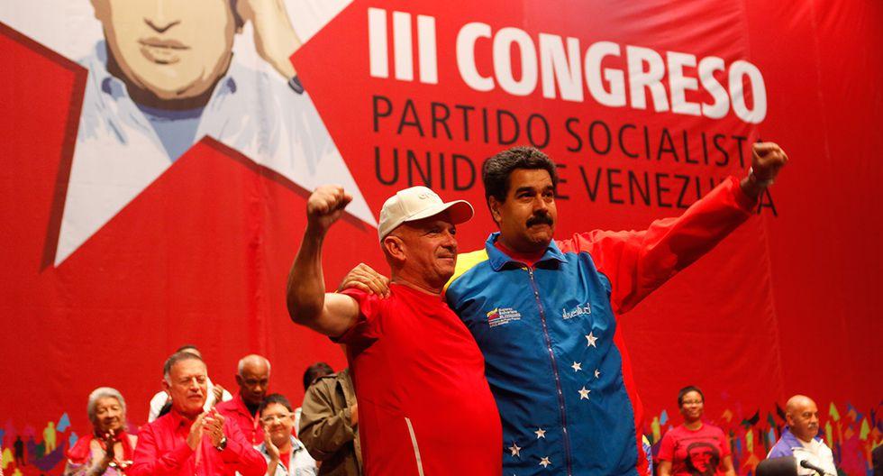 El presidente venezolano Nicolás Maduro y al general venezolano retirado Hugo Carvajal en Caracas el 27 de julio de 2014. (Foto: AFP/Archivo)