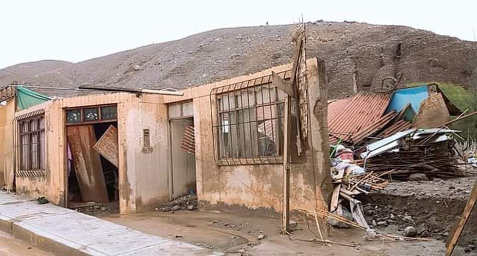 Viviendas de madera en el centro poblado de Mirave han quedado seriamente afectadas. (Foto: Prefectura Tacna)