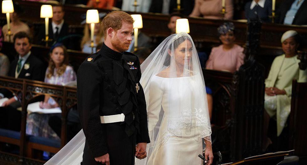 Meghan Markle y el príncipe Harry se casaron en la iglesia de San Jorge (Foto: AFP)