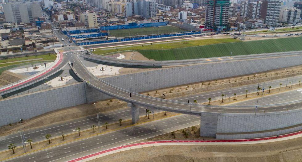 El alcalde de Lima, Jorge Muñoz, indicó que la obra cuenta con accesos peatonales, una ciclovía y áreas verdes. (Municipalidad de Lima)