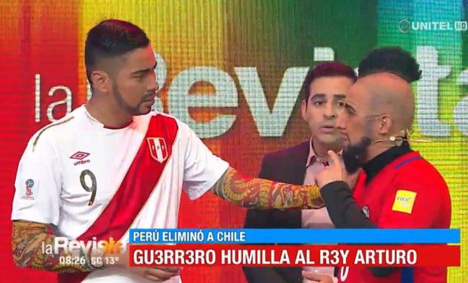 Arturo Vidal y Paolo Guerrero en divertida parodia.
