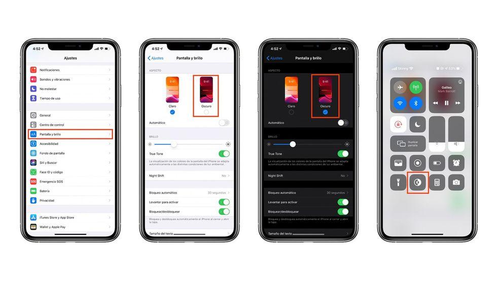 Para los iPhone deberás activar el Dark Theme desde los ajustes de tu celular. (Foto: WhatsApp)