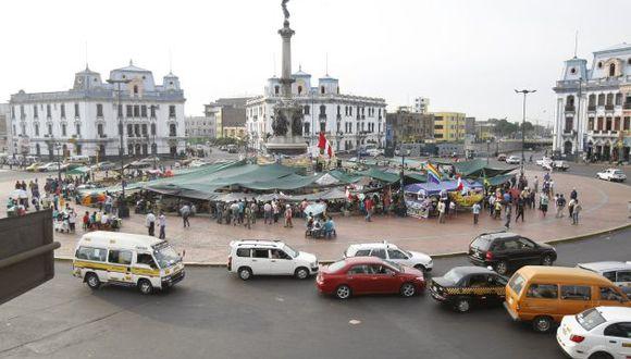 Plaza Dos de Mayo fue tomada por los mineros desde el domingo23 de marzo. (Foto: USI/Imagen referencial)