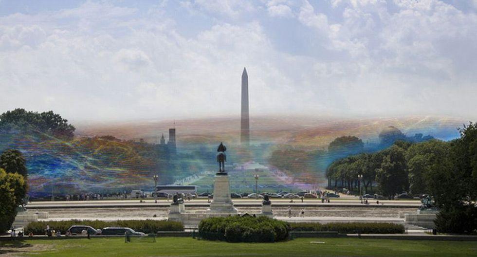 Las obras de Nickolay Lamm muestran cada señal de Internet en forma de burbujas gigantes con un color distintivo y único.