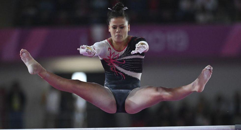 Atleta Ariana Orrego compitiendo en los juegos Panamericanos Lima 2019. (Foto: Luis Robayo / AFP)
