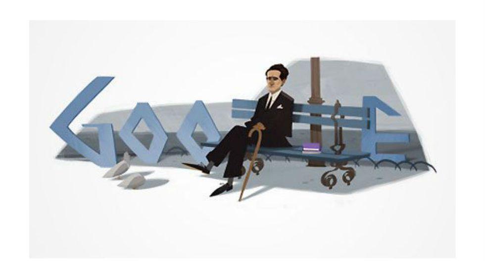 César Vallejo | Google homenajeó a Vallejo el 12 de marzo de 2012, fecha en la que hubiera cumplido 120 años.  El reconocimiento se realizó gracias a una campaña desplegada por miles de peruanos que solicitaron el mismo. (Google)